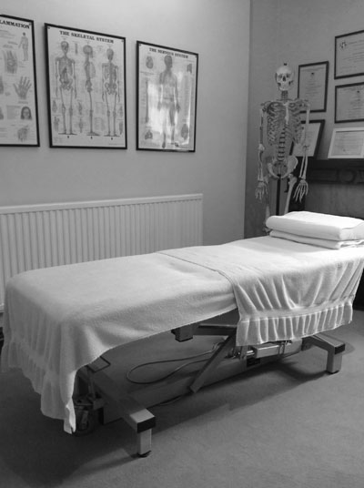 Llanelli osteopath clinic treatment room